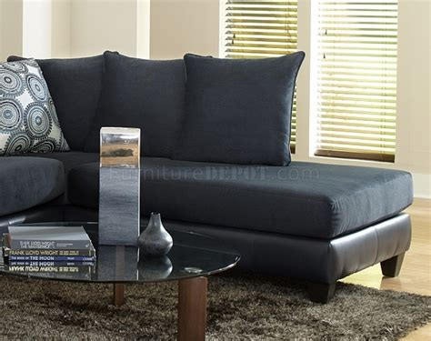 Blue Microfiber Sectional Sofa 4502 Sectional Sofa In Blue Microfiber Bi Cast