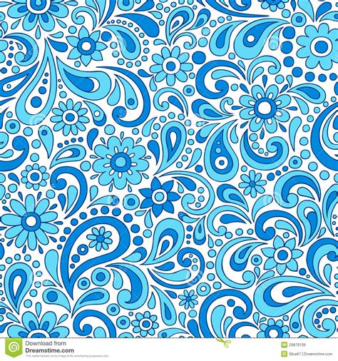 seamless pattern by hand swirly henna paisley floral seamless pattern vecto stock