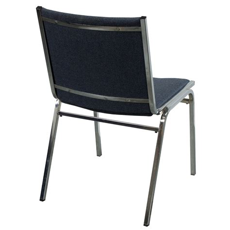 Used Stacking Chairs by Global Used Armless Stack Chair Blue Gray Tweed