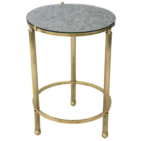 Brass Accent Table Brass Accent Table With Mirrored Top At 1stdibs