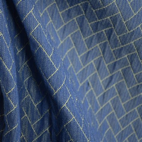 outdoor curtain fabric by the yard abaco indigo blue matelasse outdoor washable durable
