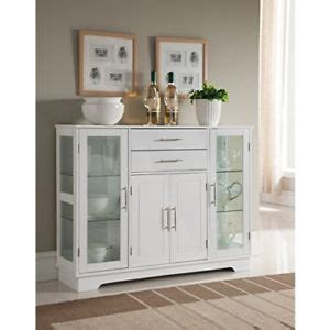 Kitchen Buffet Storage Cabinet Kitchen Buffet Cabinet With Glass Doors China Display Sideboard Storage White Ebay