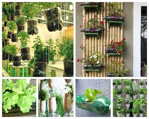 jardines verticales  botellas de pet jardinagem