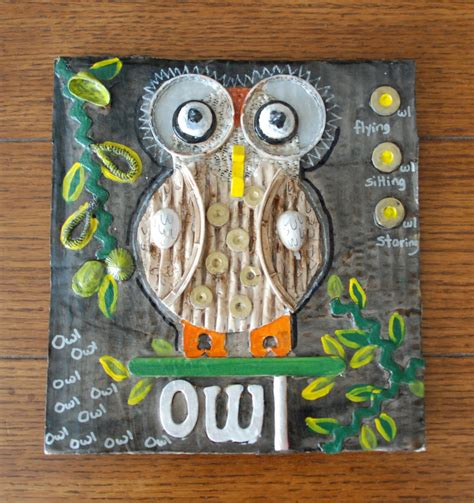 owl item that artist woman 3d sculptural