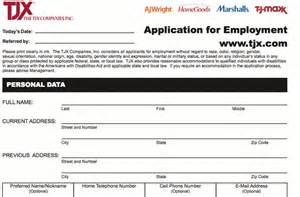 marshalls application online print job employment form