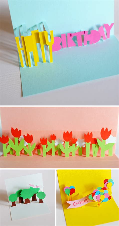 diy birthday pop up card template diy pop up cards