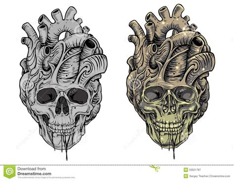 skull heart tattoo 17 best outline skull designs images on