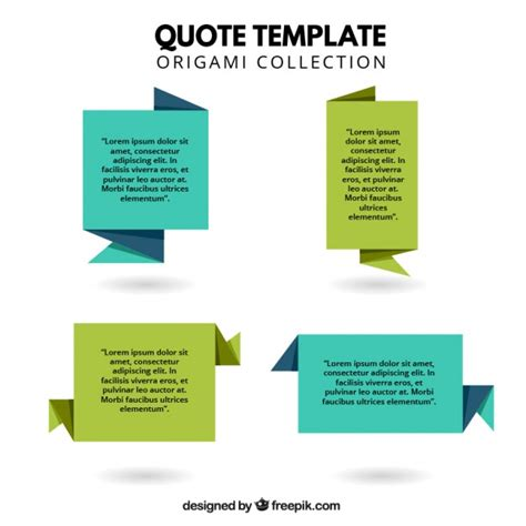 Origami Style - quote templates in origami style vector free