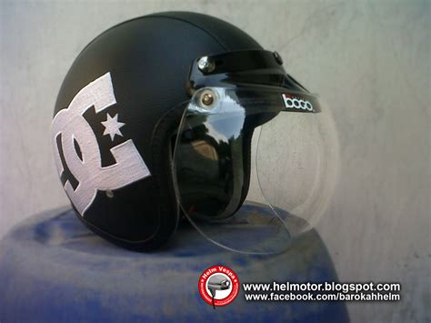 Helm Bogo Setengah Kepala helm bogo dc bordir helm vespa