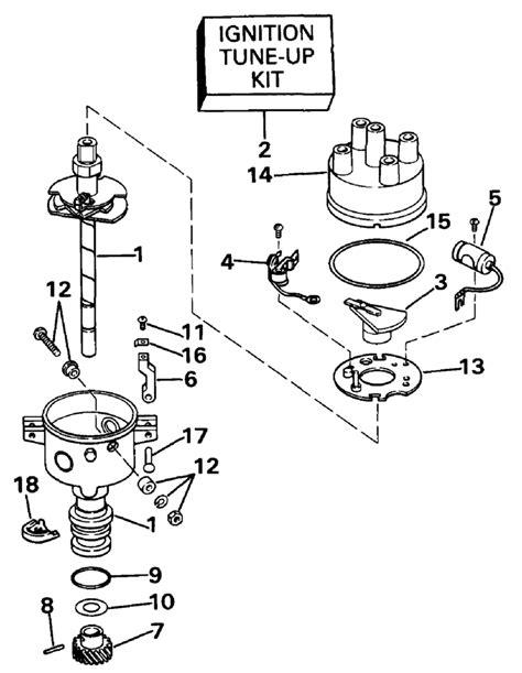 boat parts distributors omc stern drive distributor mallory parts for 1990 2 3l