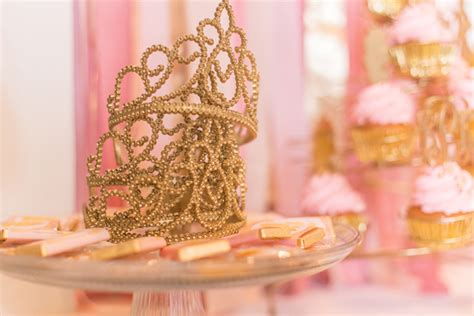 Cheap Safari Home Decor pink and gold princess 3rd birthday party pizzazzerie