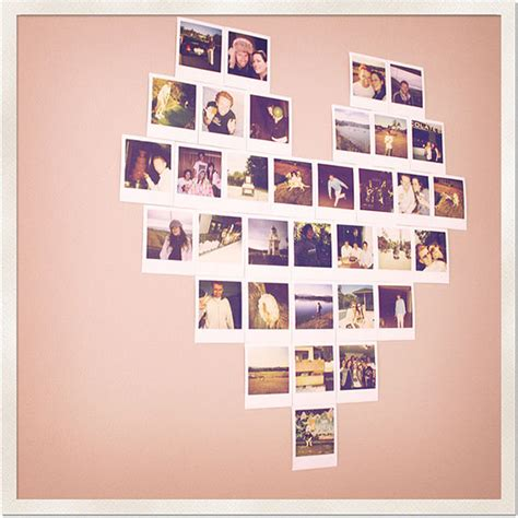 display gallery show off your polaroid love with a heart