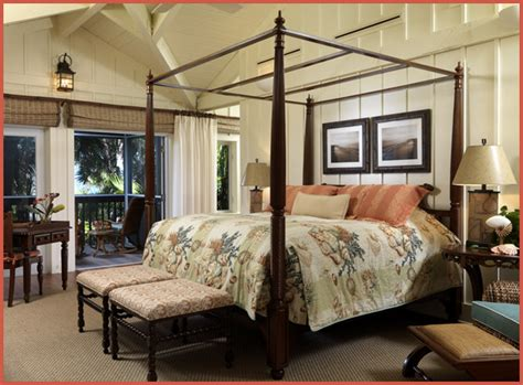british colonial bedroom home staging asheville hendersonville waynesville