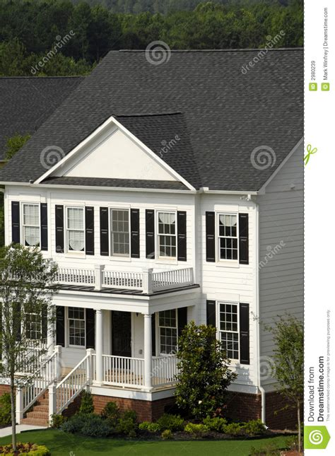 House Plans Two Story White Two Story House Royalty Free Stock Images Image