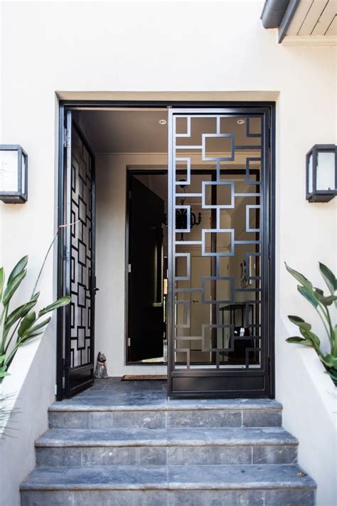 Secure House Windows Decorating 23 Metal Front Doors That Are Really Inspiring Shelterness