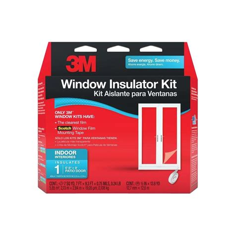 3m 84 in x 112 in indoor patio door window insulator kit