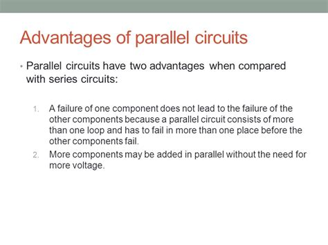 parallel circuits benefits topic 5 1 electric potential difference current and resistance ppt
