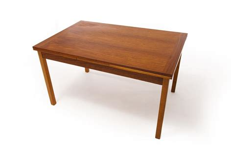mid century modern extension dining table teak