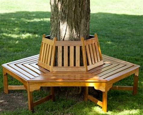 wooden tree bench durable wooden garden benches hometone
