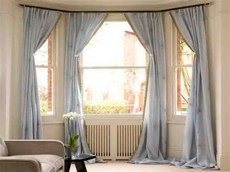 Drapery Designs For Bay Windows Ideas Great Bay Window Curtain Ideas Home Interior Design