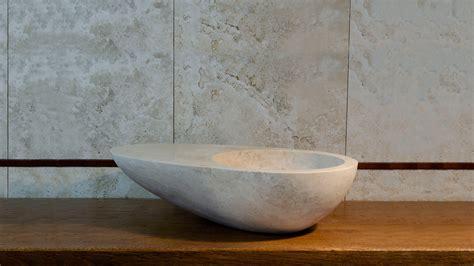 lavabo in travertino per bagno lavabo da appoggio in travertino modello quot guscio quot