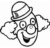 Happy Clown Face Coloring Page  Wecoloringpage