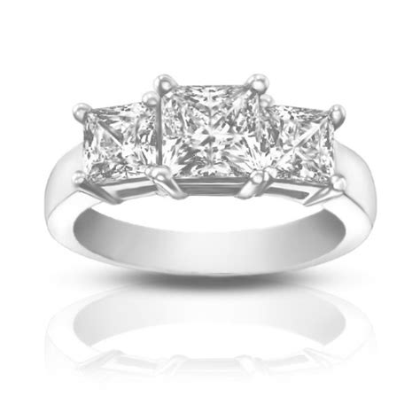 1 95 ct three princess cut engagement