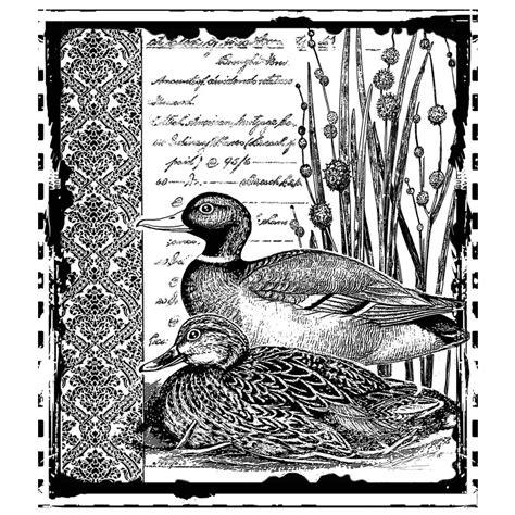 crafty individuals rubber sts crafty individuals ci 297 mallard duck pair rubber
