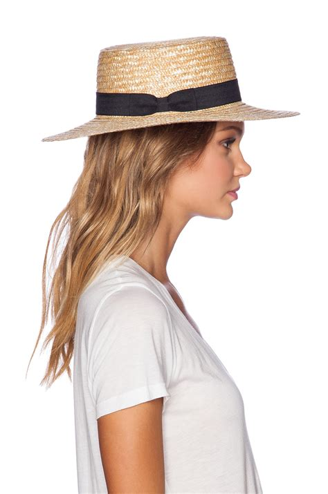 lack of color lack of color the spencer boater hat in brown lyst