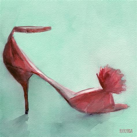 high heel shoe paintings high heel shoes painting painting by beverly brown