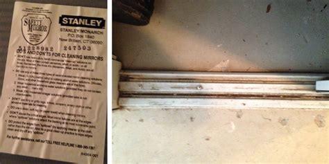 Stanley Closet Door Track by Stanley 48 Sliding Mirror Doors Replacement Bottom Track