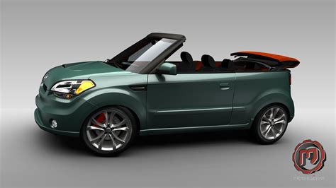 kia convertible kia soul convertible rendering top speed