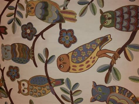 Wise Owl Tapestry Heavy Weight Upholstery Fabric Rg100