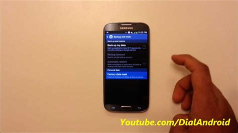 reset samsung factory how to factory reset your samsung galaxy s4 youtube