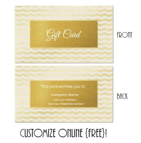 gold gift card template gift card template