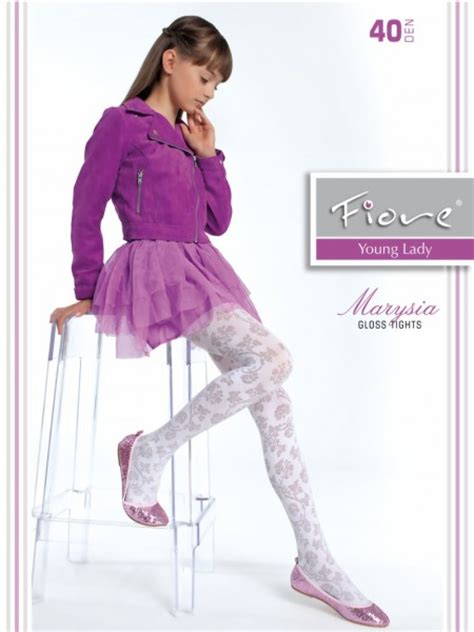 childrens patterned tights uk fiore elegant childrens tights with floral pattern