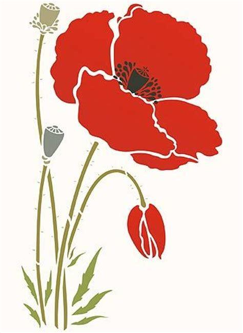 printable poppy stencils 25 best ideas about flower stencils on pinterest flower