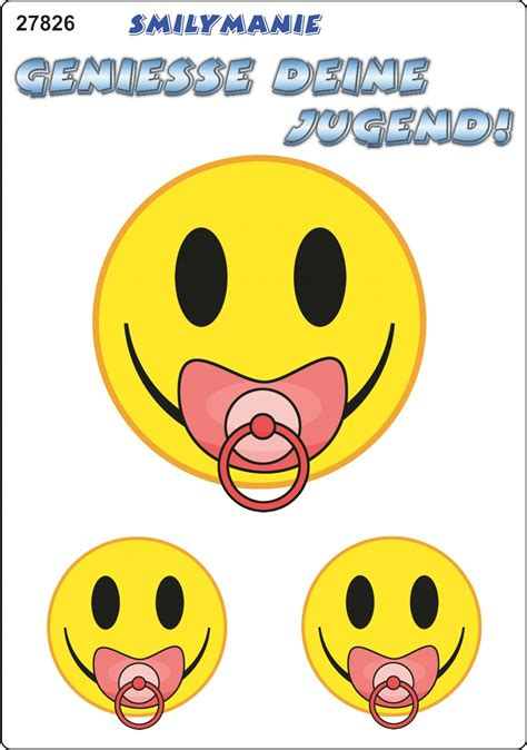 Smiley Bilder Aufkleber by Aufkleber Smily Geniesse Deine Jugend 150 X 105 Mm