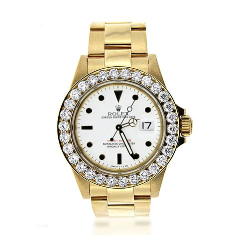 pre owned rolex yacht master s 18k gold
