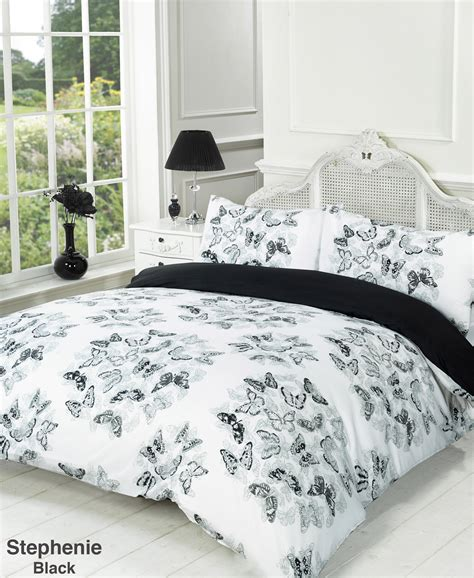 black and white bed set duvet quilt cover bedding set black white single