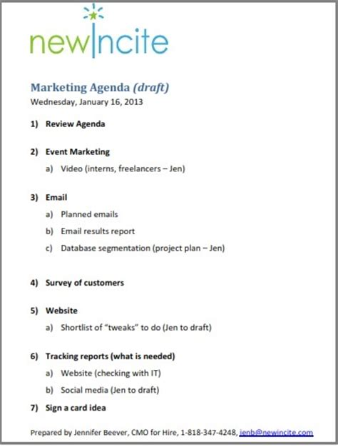 what is an agenda does your b2b marketing consultant an agenda newincite
