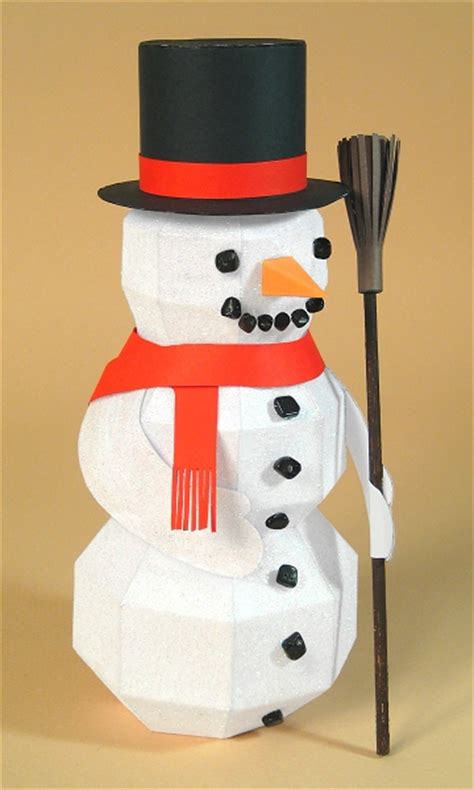 How To Make A 3d Snowman Out Of Paper - a4 card templates quot frozen fred quot 3d snowman display