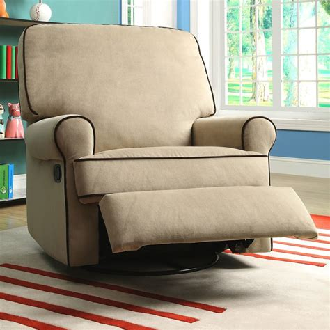 glider recliners for nursery chloe sand fabric nursery swivel glider recliner chair