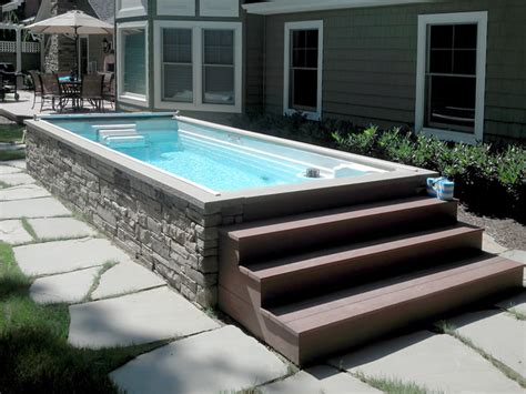 endless pools 174 backyard swim spa contemporary