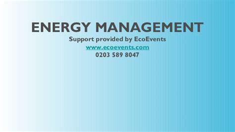 Energy Management Mba Uk by Energy Management Ppt