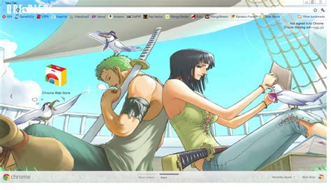 theme google chrome one piece new world zoro nico robin chrome theme themebeta