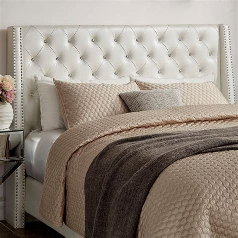 ivory headboard homesullivan venus ivory metallic king headboard 40e300bk
