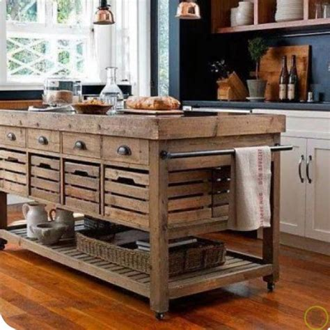 Rustic Kitchen Islands With Seating Isla Para La Cocina De Madera Maciza Ideas Para El Hogar