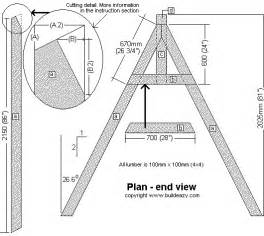a frame plans free pdf diy wooden garden swing bench plans woodproject