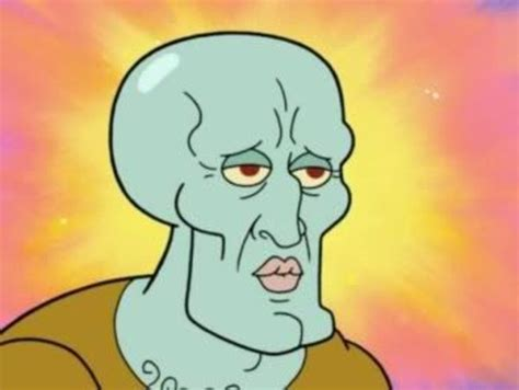 Handsome Face Meme - handsome squidward squidward falling know your meme